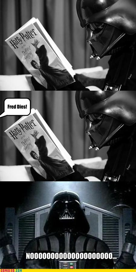 darth vader,fed,Harry Potter,noooooo,reading,star wars