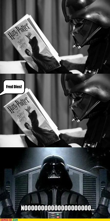 darth vader fed Harry Potter noooooo reading star wars - 5239187200