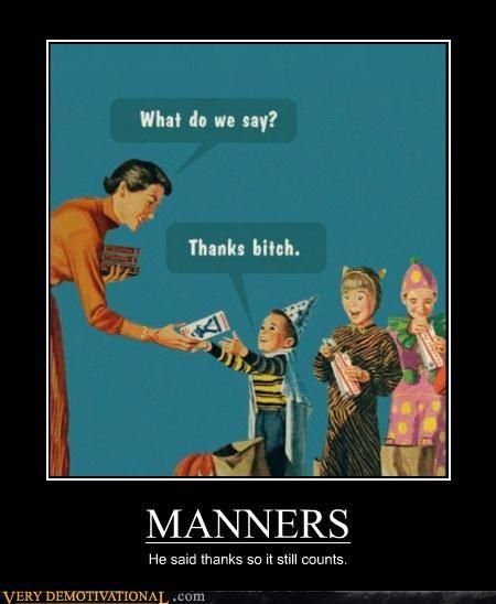 hilarious jerk kids manners thanks - 5239363328
