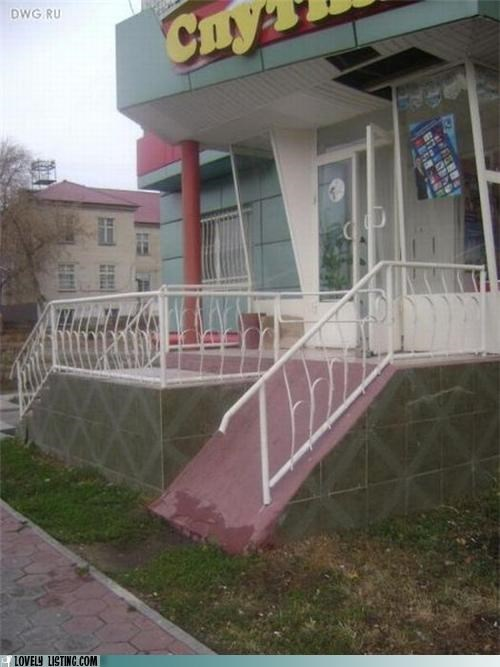 ridiculous,steep,wheelchair ramp