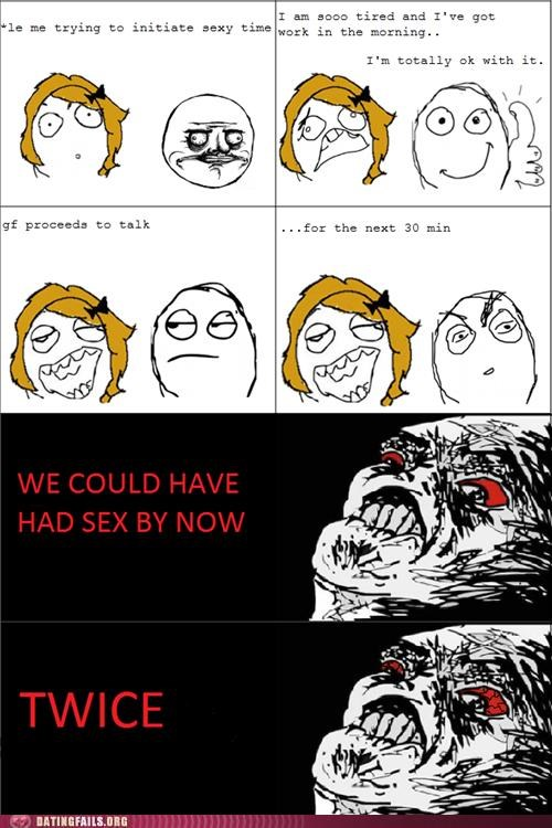 comic,rage comic,rejection,talking,tired,We Are Dating