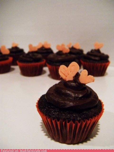 chocolate cupcakes epicute hearts miniature