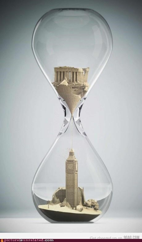 buildings,hourglass,sandcastle,time,wtf