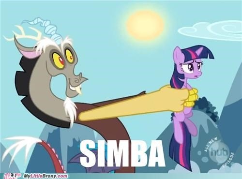 best of week,discord,lion king,ponies,simba,twilight sparkle