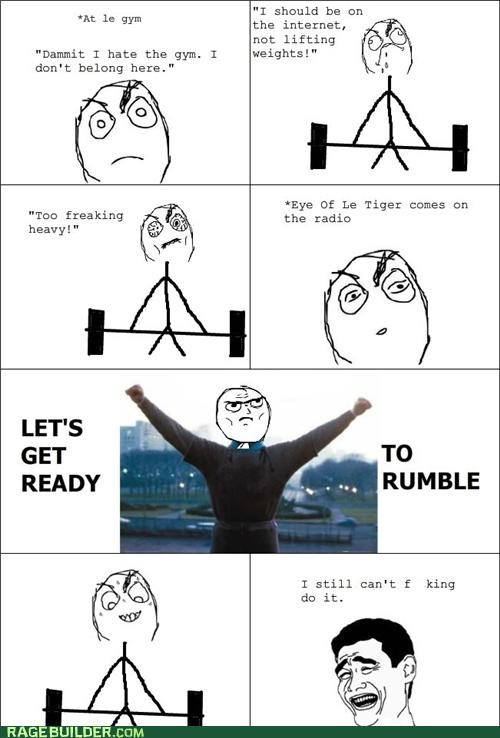 eye of the tiger FAIL Rage Comics Sad - 5241608192
