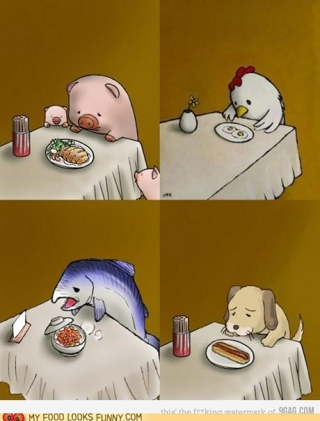 animals,cannibalism,comic,food,Sad