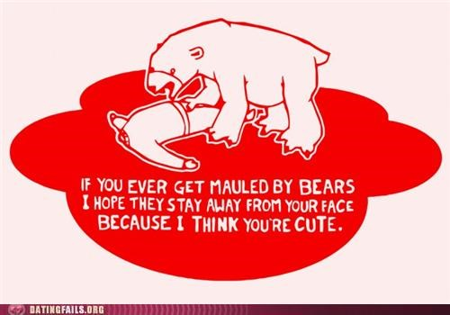 bears card cute mauled pretty valentine We Are Dating - 5241852672