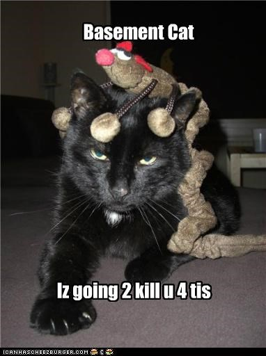 Basement Cat Iz going 2 kill u 4 tis