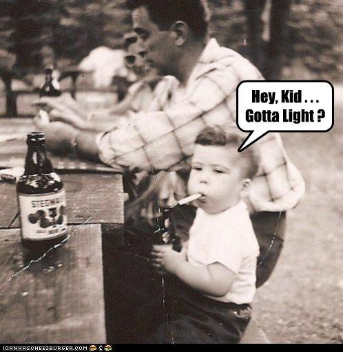 Babies cigarettes drinking historic lols inappropriate kids light smoking - 5242153216