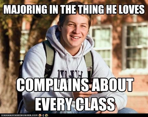 class college complaint freshman major school uber frosh