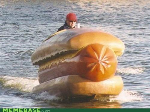 boat dude hotdog wtf - 5242533632