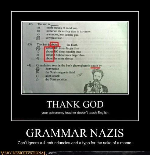 Aliens grammar nazi hilarious meme - 5242536704