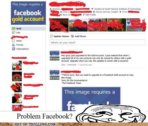 facebook gold account upbrade win - 5242725120