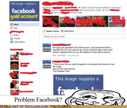 facebook gold account upbrade win - 5242725120