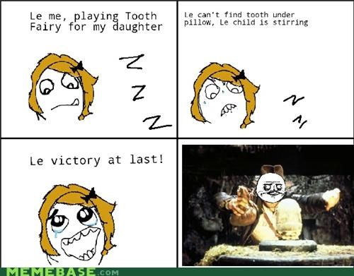 Rage Comics,sleeping,tooth,tooth fairy