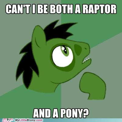 meme philosopony philosoraptor why-not-both - 5243424768