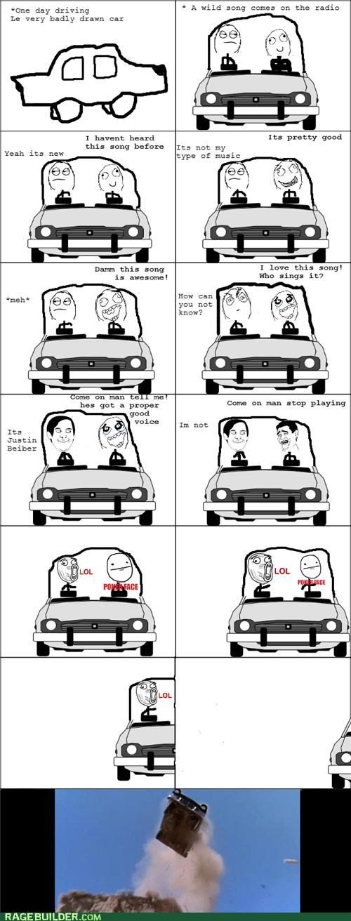 best of week car justin bieber Music Rage Comics - 5243567104
