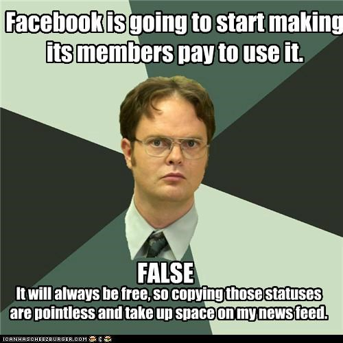 best of week,facebook,free,Memes,news feed,pay,schrute,statuses