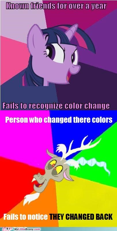 color change confidence discord meme season 2 twilight sparkle - 5243701504