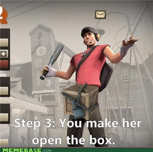 box Memes open scout step 3 team fortress video games - 5243908864