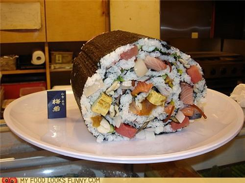 funny food photos giant roll sushi worlds-largest - 5244035584