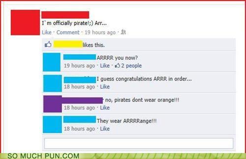 cliché facebook orange Pirate prefix sound status - 5244186624