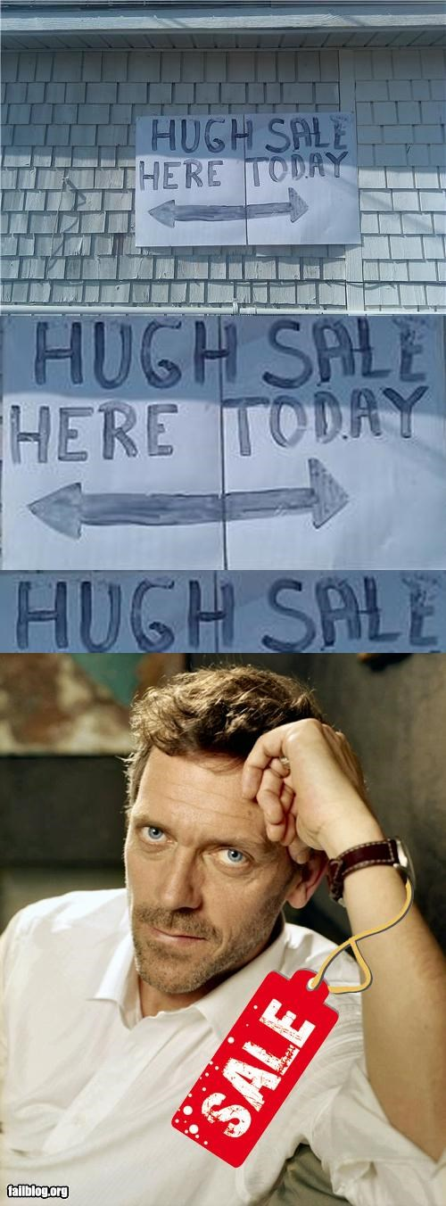 failboat g rated hugh laurie signs spelling Tenso typo - 5244302848