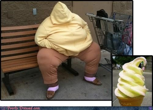 hoodie,ice cream,street,totally looks like,yellow