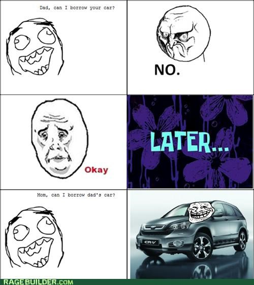 car,dad,no,Rage Comics