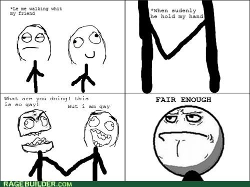 fair enough,gay,holding hands,Rage Comics
