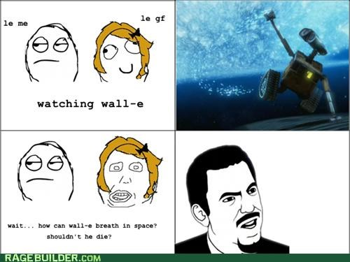 breathing dumb girlfriend Rage Comics space wall.e - 5244677888