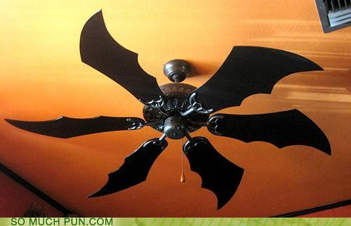 batman,big,ceiling fan,double meaning,fan,Hall of Fame,homophone,literalism