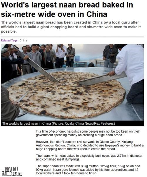 baking bread China completely relevant news food huge news noms record