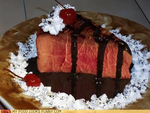 cake,dessert,funny food photos,steak