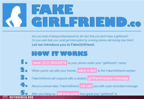 fake fake girlfriend forever alone single We Are Dating