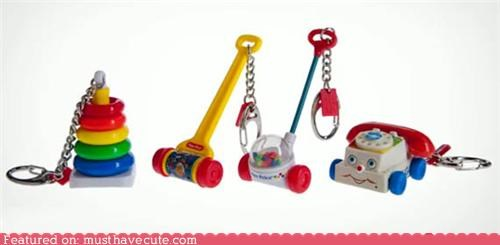 best of the week classic cute fisher price Keychain nostalgia toys - 5245154048
