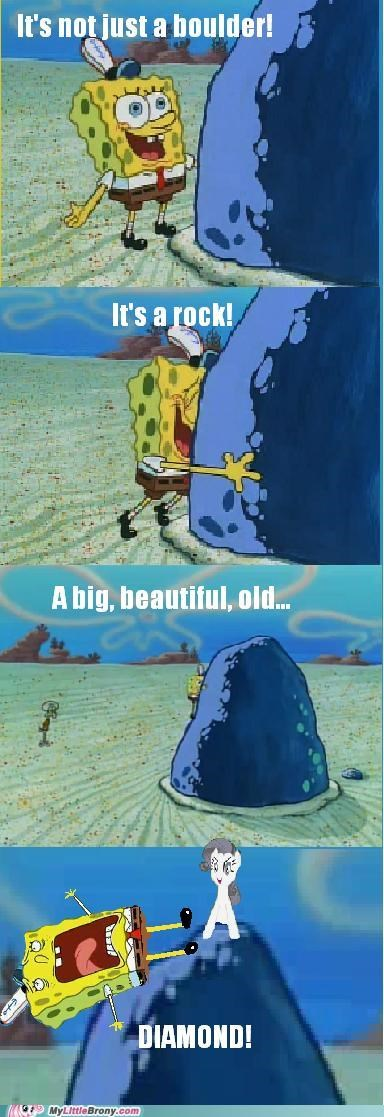 boulder meme mine rarity rockity season 2 SpongeBob SquarePants tom - 5245439488