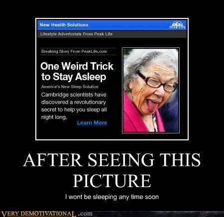 creepy old lady sleeping Terrifying - 5245637632