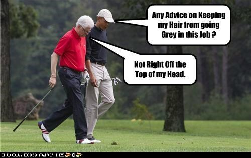 barack obama bill clinton golf political pictures - 5246422016