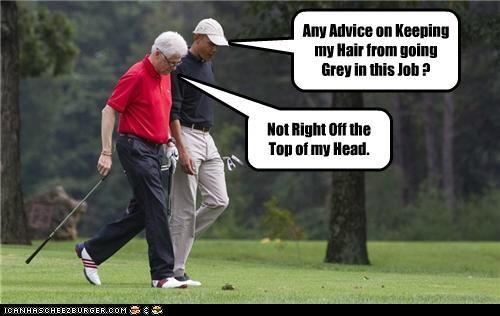 barack obama bill clinton golf political pictures - 5246422016