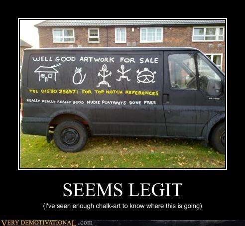 chalk art hilarious seems legit van - 5246978304