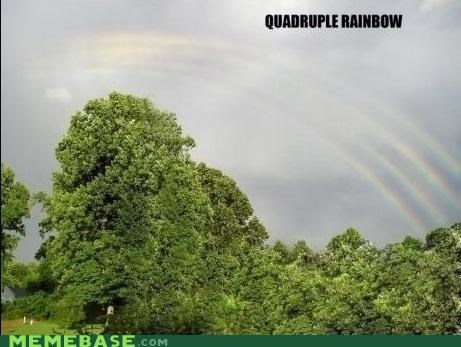 all the way double meme Memes quadruple rainbow - 5247100672