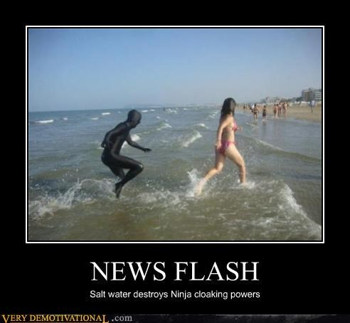 hilarious,ninja,salt water,scary