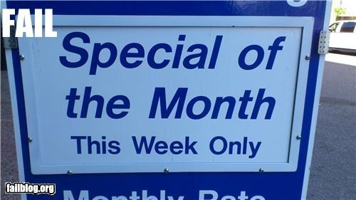 Monthly? special