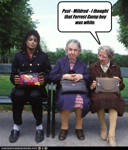 Psst - Mildred - I thought that Forrest Gump boy was white.