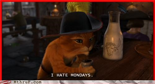 mondays,Puss in Boots,screencap,shrek