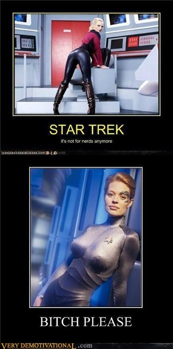 7 of 9 Pure Awesome Sexy Ladies Star Trek wtf - 5247515904