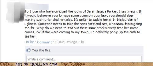 facebook,horse,neigh,sarah jessica parker