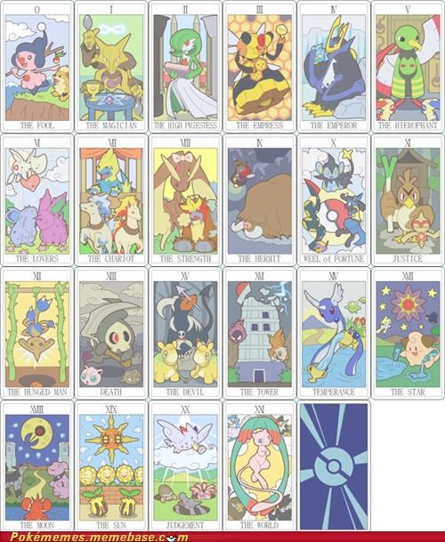art best of week fortune mystic pokémon card tarot cards - 5247556352