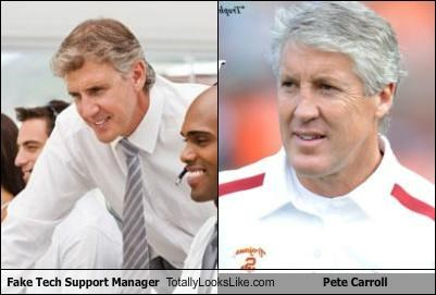 funny Hall of Fame pete carroll stock photo tech support TLL